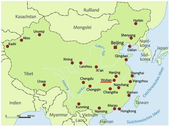 Lage Wuhan